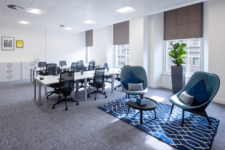 Orega Serviced Offices Glasgow St Vincent Street office space (dressed)